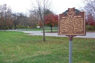 Birthplace of Tecumseh Marker Photo, Click for full size