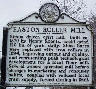 Easton Roller Mill Marker image. Click for full size.