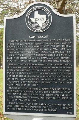 Camp Logan Marker Photo, Click for full size