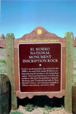 El Morro National Monument Marker image. Click for full size.