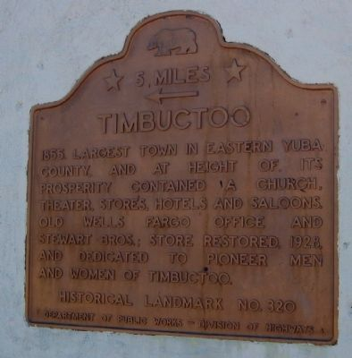 Timbuctoo Marker Photo, Click for full size