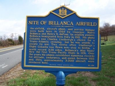 Site of Bellanca Airfield Marker image. Click for full size.