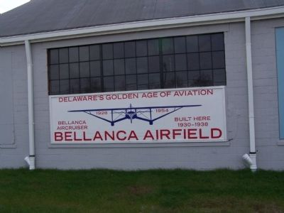Sign on Hangar image. Click for full size.