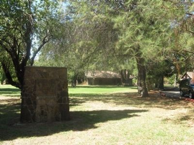 Pe�a Adobe Park Marker with Vaca-Pe�a Adobe in Background image. Click for full size.
