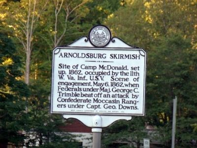 Arnoldsburg Skirmish Marker Photo, Click for full size