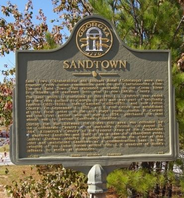 Sandtown Marker Photo, Click for full size