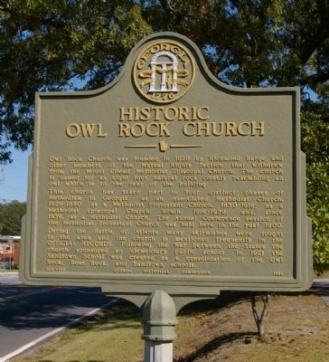 Historic Owl Rock Church Marker image. Click for full size.