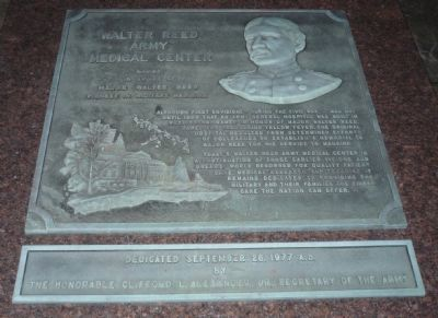 Walter Reed Army Medical Center Marker image. Click for full size.