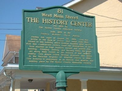 The History Center Marker image. Click for full size.