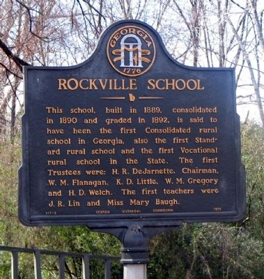 Rockville School Marker Photo, Click for full size