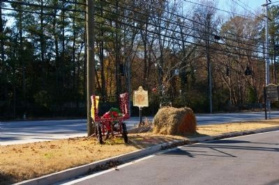 Old Cross Keys Marker, located at a busy intersection. image. Click for full size.