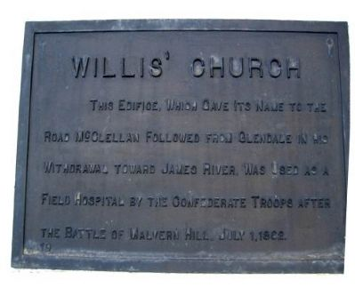 Willis' Church Marker image. Click for full size.