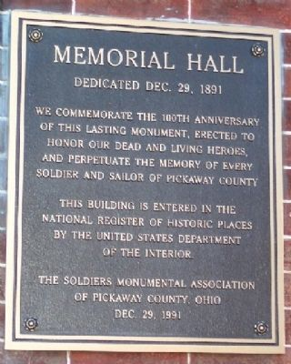 Memorial Hall Marker image. Click for full size.