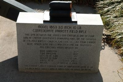 Confederate Cannon Marker Photo, Click for full size