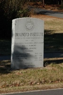 Brainerd Institute Stone Marker Photo, Click for full size