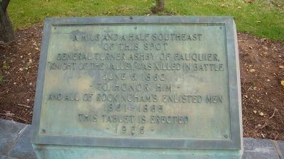 General Turner Ashby of Faquier Marker Photo, Click for full size