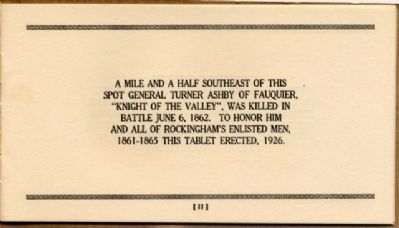 Battlefield Markers Asscociation, Western Division Booklet (1929) Photo, Click for full size
