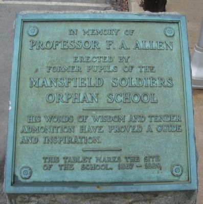 Mansfield Soldiers Orphan School Marker Photo, Click for full size