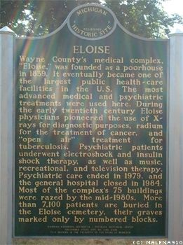 Eloise Poorhouse/Hospital Marker image. Click for full size.