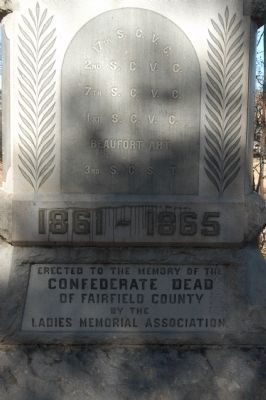 Fairfield County Confederate Monument Marker Photo, Click for full size