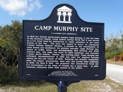 Camp Murphy Site Marker Photo, Click for full size