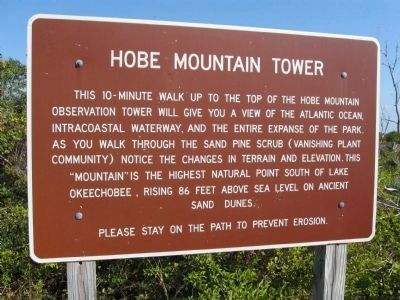 Hobe Mountain Tower information sign Photo, Click for full size