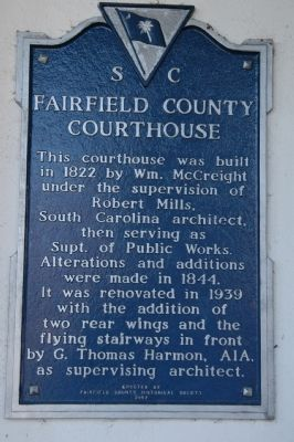 Fairfield County Courthouse Marker Photo, Click for full size