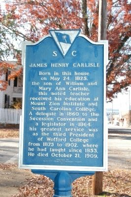 James Henry Carlisle Marker image. Click for full size.