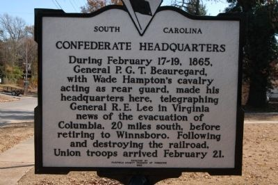 Confederate Headquarters Marker Photo, Click for full size