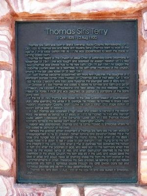 Thomas Sirls Terry Marker image. Click for full size.