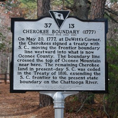 Cherokee Boundary (1777) Marker image. Click for full size.
