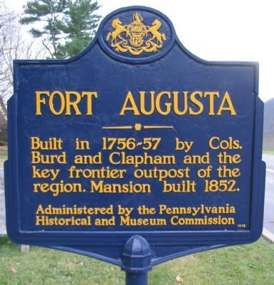 Fort Augusta Marker image. Click for full size.