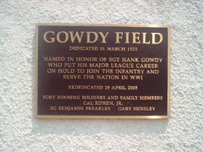 Gowdy Field Marker image. Click for full size.