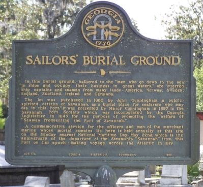 Sailors' Burial Ground Marker image. Click for full size.