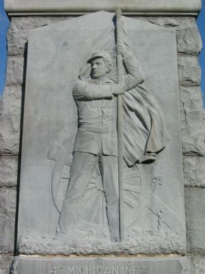 Relief on Front of Monument Photo, Click for full size