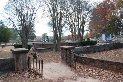 Entrance to the Old Stone Church Cemetery Photo, Click for full size