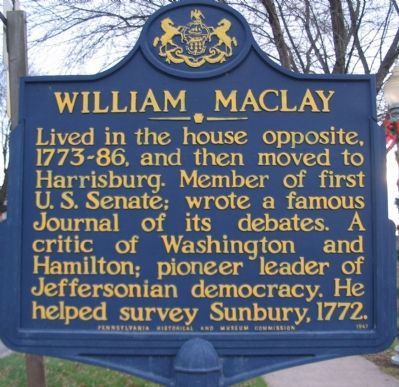 William Maclay Marker Photo, Click for full size