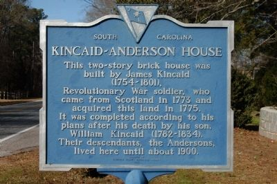 Kincaid-Anderson House Marker Photo, Click for full size