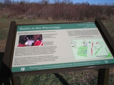 Battle at the Parsonage Marker image. Click for full size.