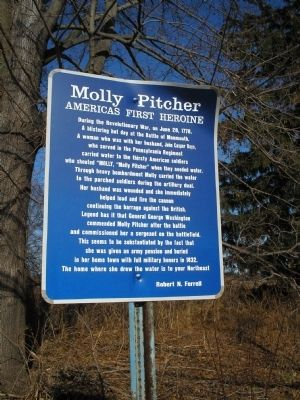 Molly Pitcher Marker Photo, Click for full size