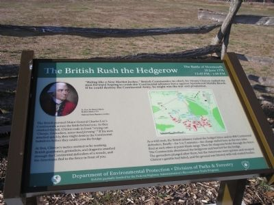The British Rush the Hedgerow Marker image. Click for full size.