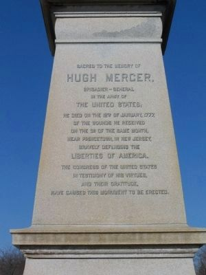 Hugh Mercer Monument image. Click for full size.