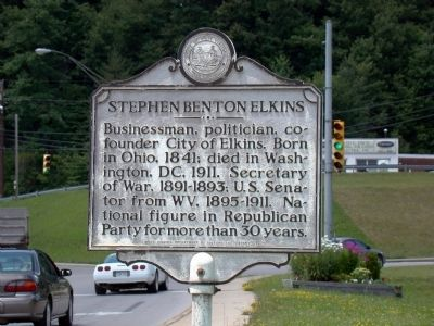 Stephen Benton Elkins Face of Marker Photo, Click for full size