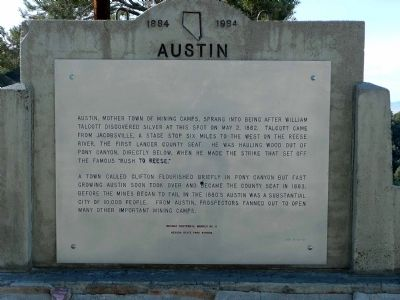 Austin Marker Photo, Click for full size