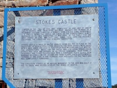 Stokes Castle Marker image. Click for full size.