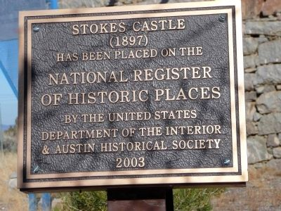 Stokes Castle National Register of Historical Places image. Click for full size.