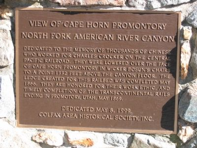 Cape Horn Promontory Marker Photo, Click for full size