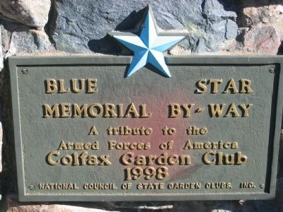 Blue Star Memorial By-Way Marker Photo, Click for full size