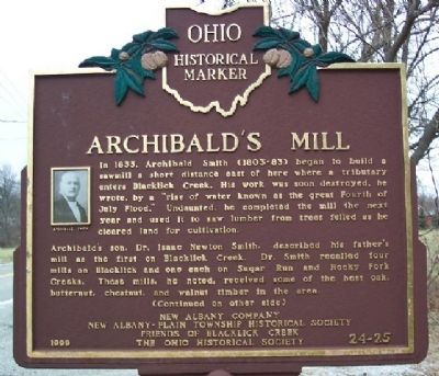 Archibald's Mill Marker (Side A) image. Click for full size.