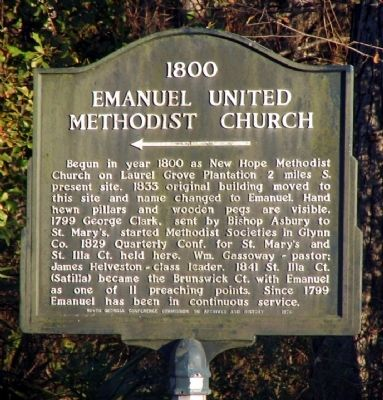 1800 Emanuel United Methodist Church Marker image. Click for full size.